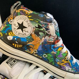 Converse Shoes - One-of-a-kind HYDROGRAPHIC chuck's comic design